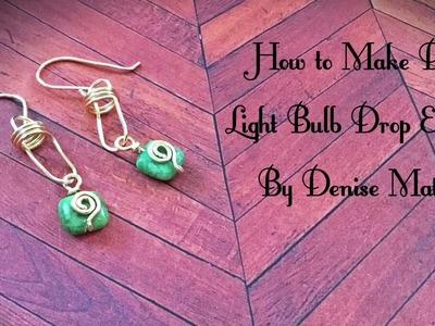 How To Make DIY Lightbulb Link Bead Drop Earrings By Denise Mathew