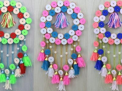 How to Make Door Hanging Using Woolen at Home.Best out of Waste Woolen Ideas.Diy Door Hanging