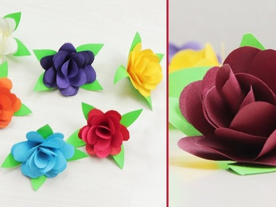 How To Make TINY PAPER ROSE FLOWERS | Paper Crafts | Craftsbox