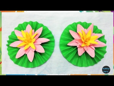 How to make water Lily with paper - DIY Paper Flowers