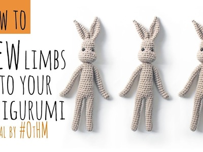 How to Sew on your Amigurumi Limbs. How to Sew and finish your Crochet Dolls together with thread.