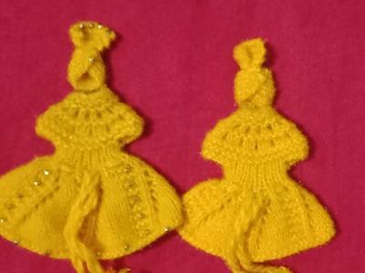 Knitting pattern for kanhaji ki beautiful dress.pagdi.mukut size 0-1. . .#34