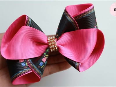 Laço De Fita ???? Ribbon Bow Tutorial #18 ???? DIY by Elysia Handmade