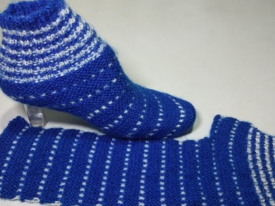 Learn how to knitting star booties very easy