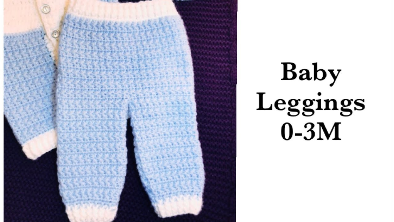 LEFT - Baby Boy Set: How to crochet star stitch baby pants or leggings 0-6M Crochet for Baby #177