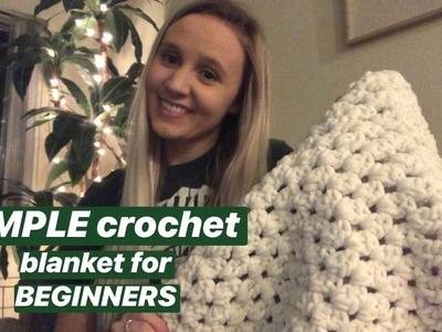 SIMPLE Double Crochet Blanket for Beginners!