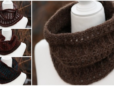 Sticks and Stones Cowl Needle Knitting Pattern Tutorial