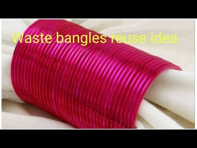 Waste bangles reuse idea. DIY Room decor. DIY Wall hanging out of wool & bangles(144)