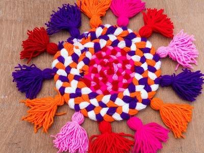 WOW! Amazing Doormats | How to make doormats using woolen - Easy step by step