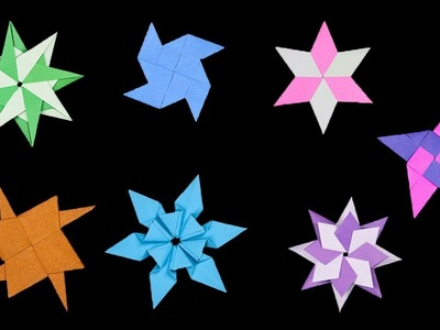 06 Easy #Origami Paper Ninja Star - How to Make Step by Step