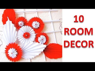 10 Paper Crafts !! DIY Room Decor 2019 || DIY Projects !!!