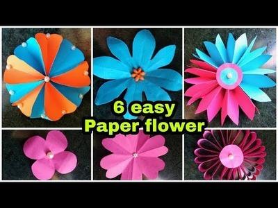 6 Easy Paper Flower | Flower making DIY | origami flower | 6 easy flower making idea