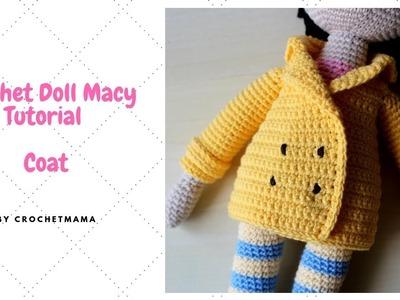 Crochet Doll Coat for My Doll Macy