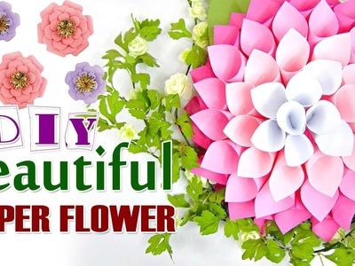 Diy amazing beautiful paper flower