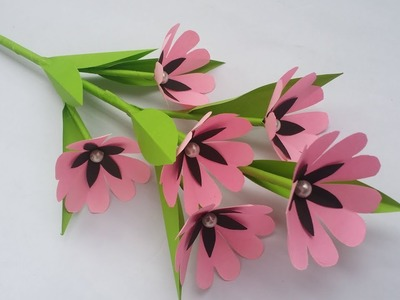 DIY: Paper Flower Stick!! How to Make Paper Flower Stick for Home decoration!!! Easy Paper Crafts!!!