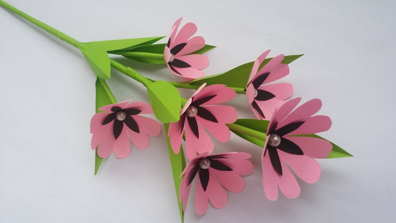Diy Paper Flower Stick How To Make Paper Flower Stick For Home