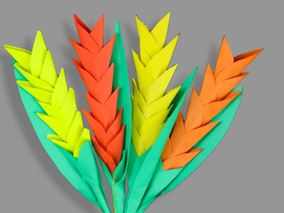 DIY: Paper Stick Flower Easy - How To Make Beautiful Paper Stick Flower Handicraft For Home