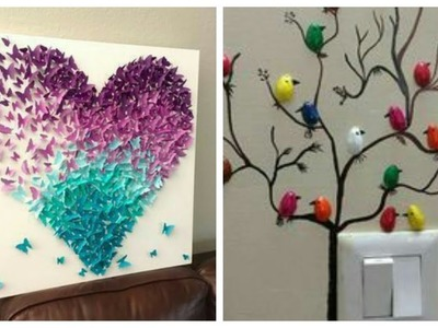 DIY Room Walls Decoration Ideas With Paper