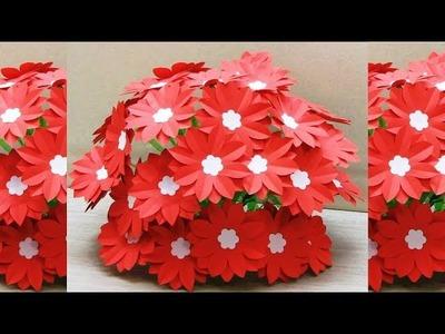 GULDASTA.NEW DESIGN PAPER FLOWER POT.FLOWER VASE.WASTE PLASTIC BOTTLE GULDASTA.paper craft 1