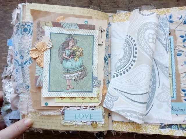 How to Make a Collage Process Video. Junk Journal Scrapbooking Tutorial. Boho Fairy