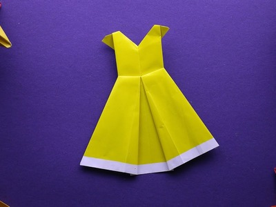 How to make a Cute and Beautiful Origami Dress - 92crafts