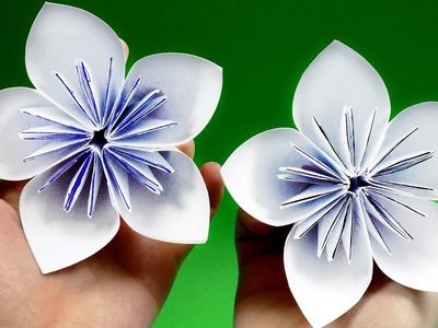 How to make a flower with paper easy