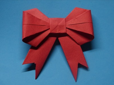 How to make a paper Bow.Ribbon - Easy Origami Tutorial - Ribbons for beginners making