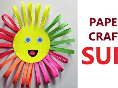 How to Make a Paper Sun | Step by Step | Kids Special | Sun Paper Craft | Colorful Origami Craft Sun
