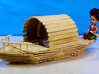 How to make a Popsicle Stick Boat || Icecream sticks Boat - DIY Project