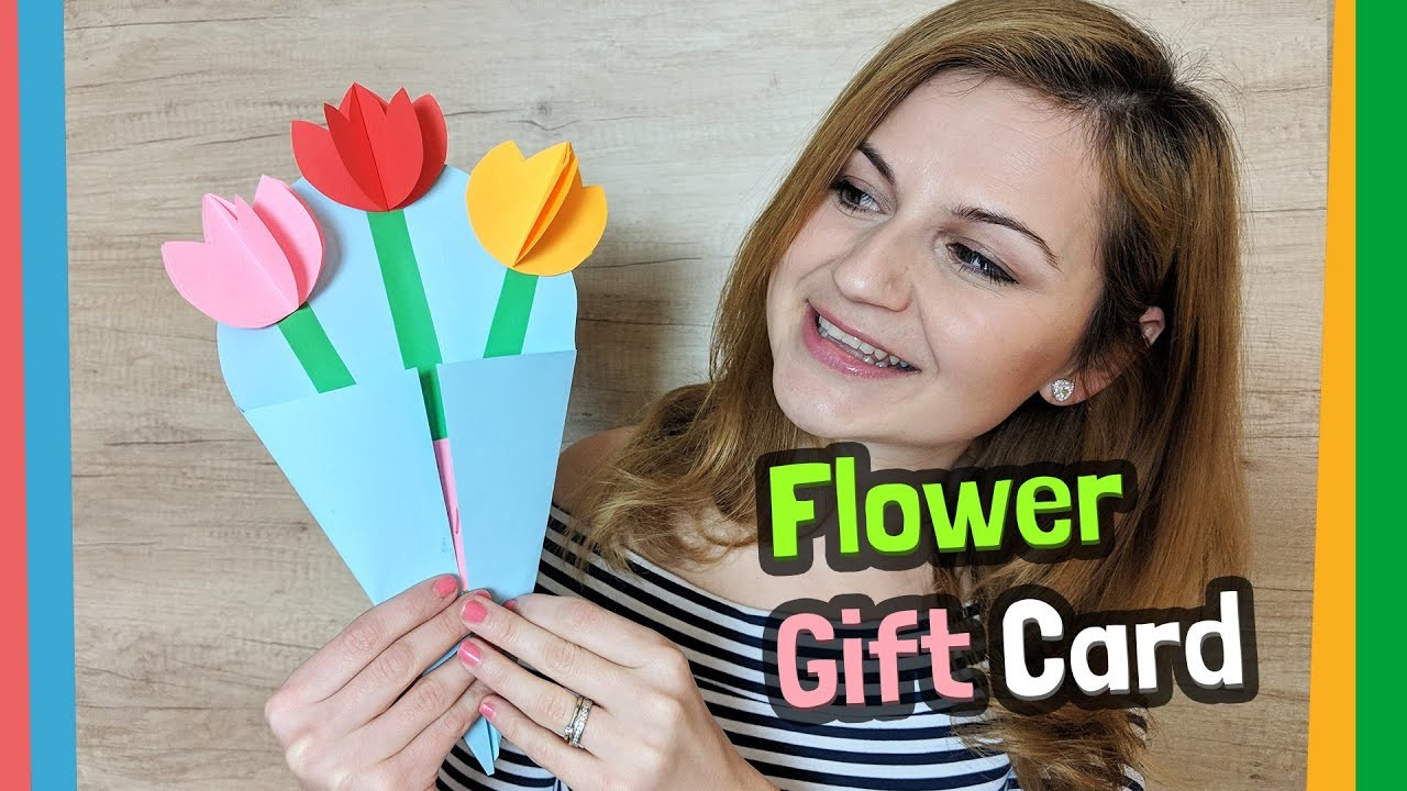How to make an easy paper flower gift card for your loved ones in 5 minutes
