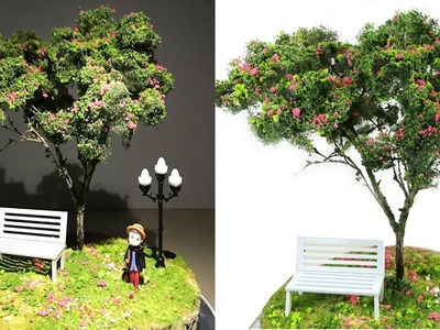 How to Make Basic Tree model Diorama Tutorial