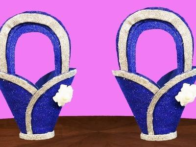 How To Make Flower Basket ||Wonderfull Flower Basket|| Room Decoration Idea||dustu pakhe