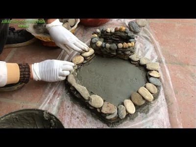 How To Make Flower Pots From Stones Sand And Cement - Build Creativity At Home Easily