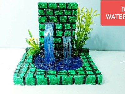 How to make homemade Waterfall Fountain show piece making without electricity?