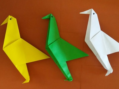 ☆ How To Make Paper Bird Origami| Step by step Bird Origami|Paperfolding|papercraft|origami