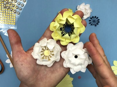 LOTUS mini paper flower video tutorial and template