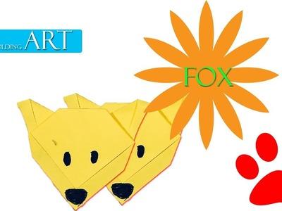 Origami- A Simple Origami Fox,, Paper Folding Art