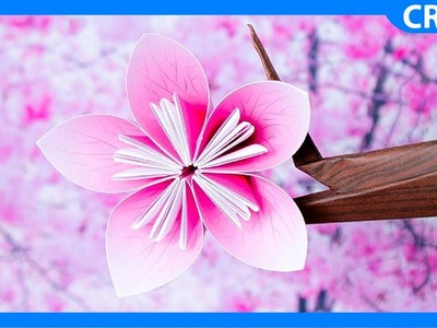 Paper Cherry Blossom | Paper Flower Tutorial Free Template