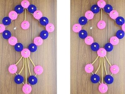 Woolen crafts - How to make door hanging - Wall hanging ideas - Amazing Woolen Door Hanging Toran
