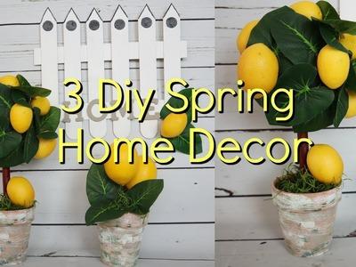 3 DIY Spring Home Decor | DIY Lemon Topiaries & Birdhouse Fence
