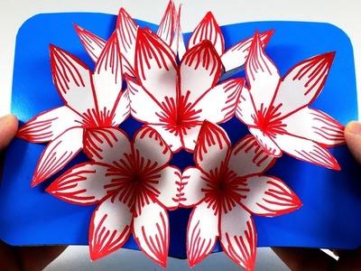 3D flower POP UP card - Paper Flowers