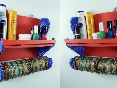 Bangle Storage Idea from Waste Cardboard | Best Out of Waste DIY Bangle Stand | StylEnrich