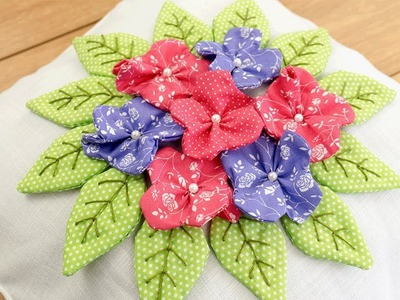 Beautiful  Flower Cushion Cover   DIY Stitching   Home Décor
