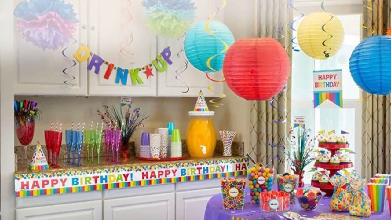Birthday Decoration Ideas At Home With Paper Simple Birthday