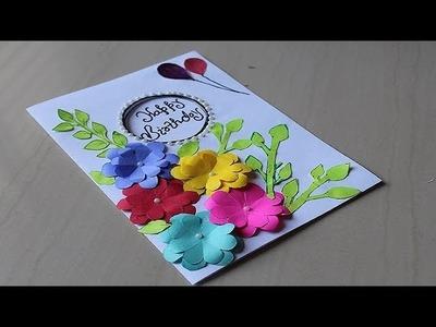 DIY - Beautiful Handmade Birthday card idea - DIY Greeting Cards for Birthday.