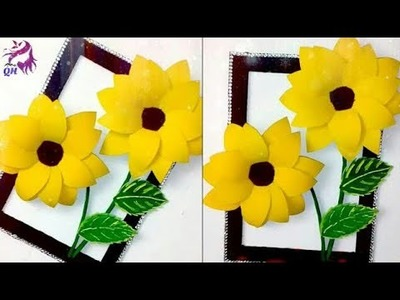 DIY beautiful sunflower wall decor idea | DIY Wall hanging | home decoration | Queen's home