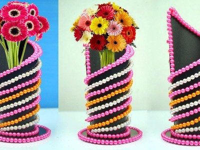 DIY Easy and Beautiful Flower Vase Out Of Paper   Flower Shaped Vase   Home Decor Idea