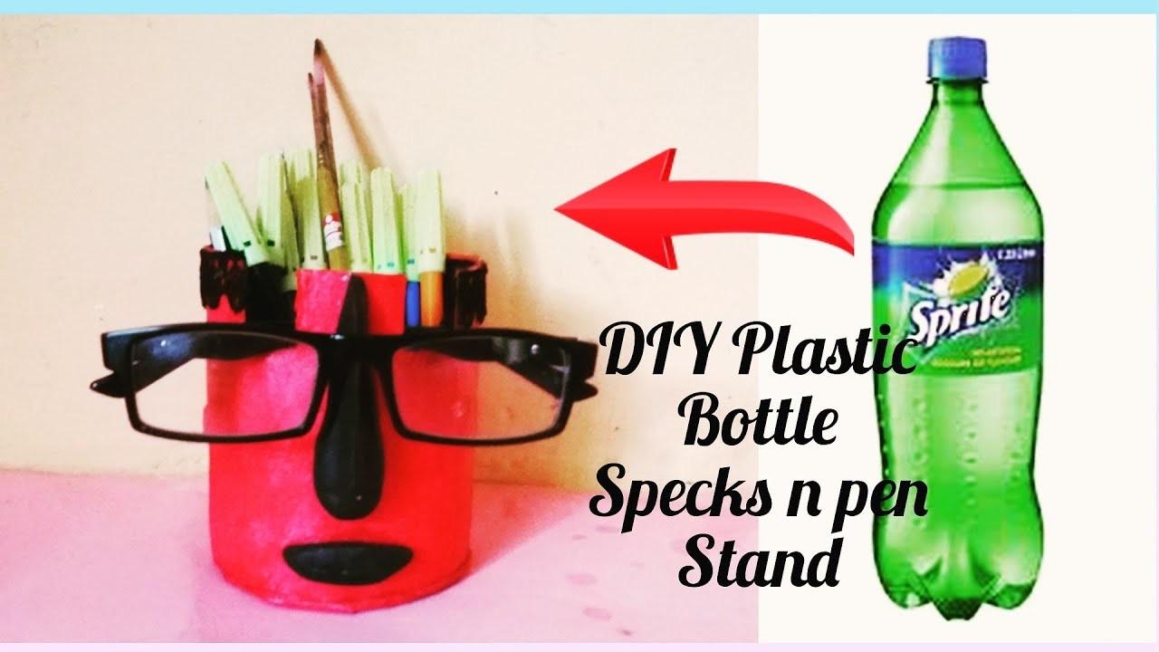 Diy Easy Plastic Bottle Specks N Pen Stand Specks N Pen Holder
