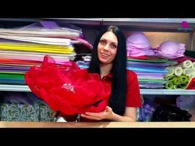 DIY Fabric flower.organza