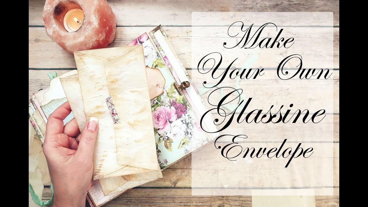 DIY Glassine Envelopes ~Wanderlust~Misty Rose~#8 by jenofeve designs